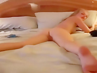 So sexy blonde College student make sex fun on a reality amateur show