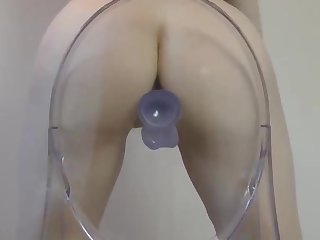 Hot sexy college girl rides dildo on the chair on cam